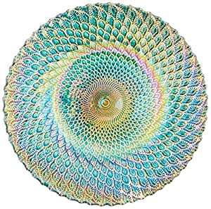 Zingz and Thingz Iridescent Small Decorative Plate  sc 1 st  Amazon.com & Amazon.com: Zingz and Thingz Iridescent Small Decorative Plate: Home ...