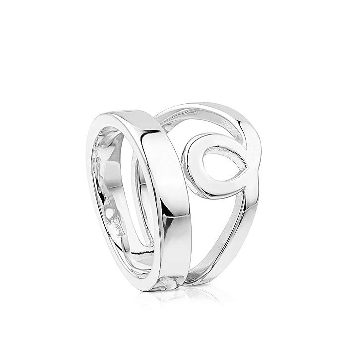 TOUS anillo Lio de plata de primera ley Ancho: 1,55 cm. Talla 11,5 cm - Peso 7,23 gramos