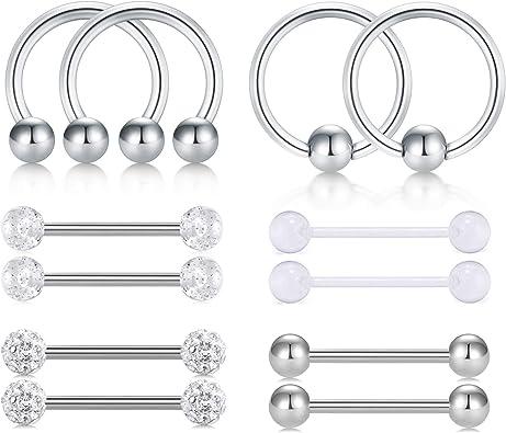 Piercing langue acier as 3 Designs Disponibles