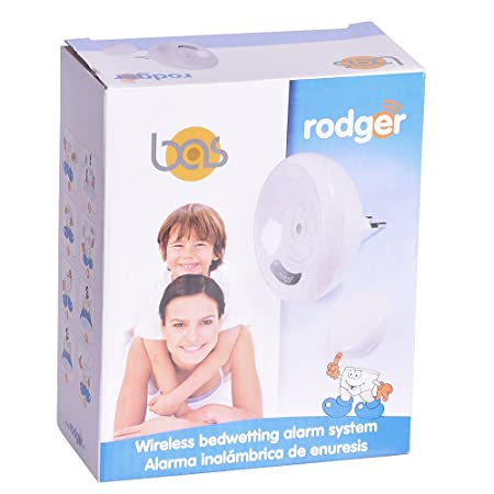 Rodger Wireless Bedwetting Alarm System with 8 Tones - Easy to Use Wireless Enuresis Alarm