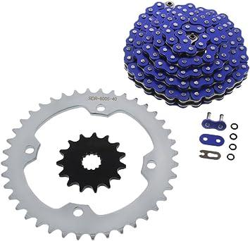 Blue O-Ring Chain /& Silver Sprocket 15//40 100L 2004-2007 Yamaha YFZ450 YFZ 450