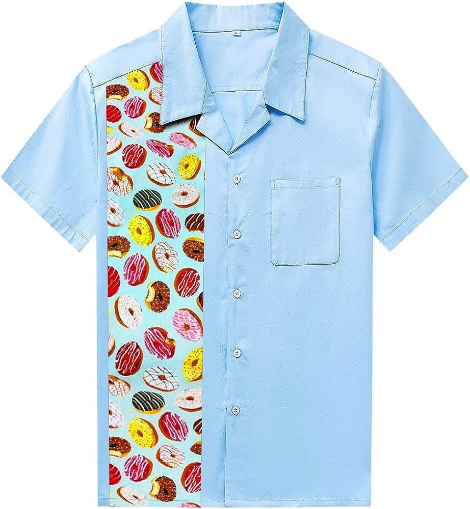 Candow Look Mens Shirt Buttons Floral Hawaiian Beach Aloha Shirt