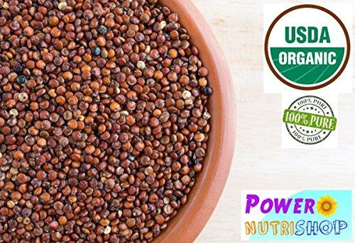 (PURE PREMIUM Organic Red Quinoa Kosher Certified,VEGAN,GLUTEN-FREE,nonGMO (5 Pounds))