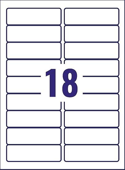 Avery L7172-25 - Etiqueta autoadhesiva para archivador (100 x 30 mm, 450 unidades), color blanco: Amazon.es: Oficina y papelería