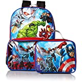 Marvel Boys' Avengers Backpack with Lunch Window Pocket, Blue