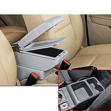 Para V olkswagen Golf 7 Avanzado Auto Apoyabrazos Consola Central Reposabrazos Accesorios Con función de carga 7 puertos USB Doble espacio de almacenamiento ...