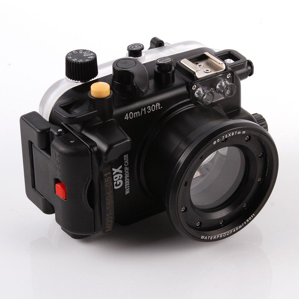 Meikon 40 M 130 ft Underwater Waterproofカメラのハウジングケースfor Canon PowerShot g9 X 24 – 85 mm DSLRカメラレンズ   B07CRF7T9J