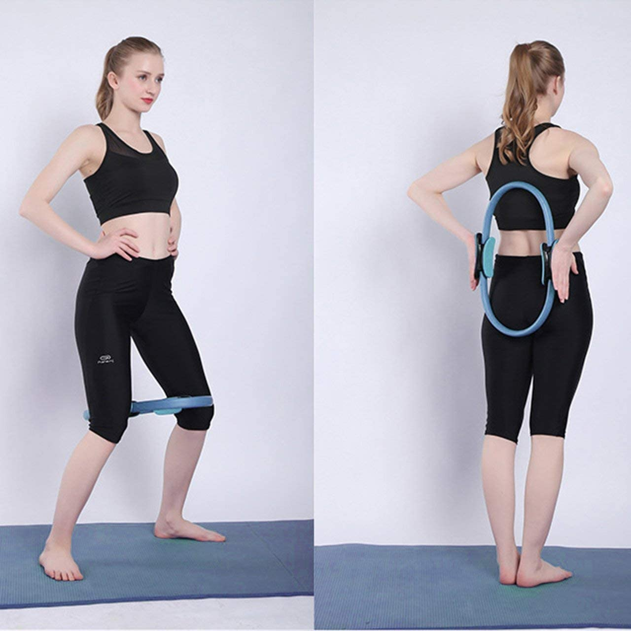 SZXCX Professionnel Fitness Magic Wrap Yoga Pilates Anneau Minceur Body Building Training Yoga Circle Gym Workout Training Tool Bleu