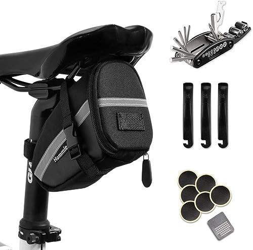Hommie Bike Repair Tool Kits, 16-in-1 Bicycle Saddle Bag