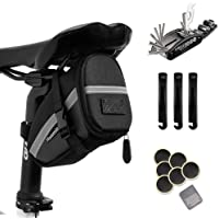 Hommie Bike Repair Tool Kits, 16-in-1 Bicycle Saddle Bag with Repair Set, Mechanic Portable Tyre Tools Set Bag with…