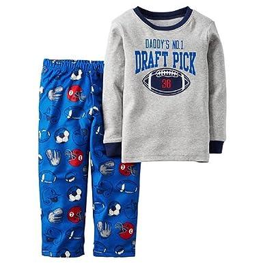 b696b964fa0d Amazon.com  Daddy s No 1 Draft Pick Football Theme Pajama Set ...