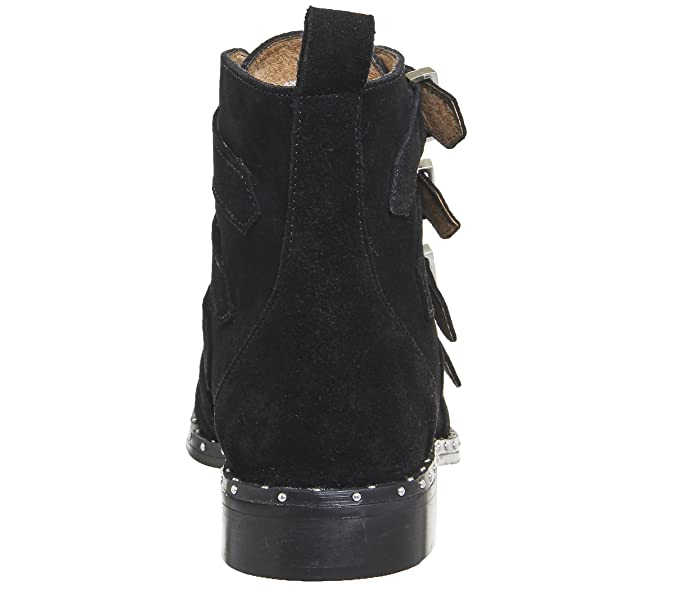 d2486262f0f5 Office Amsterdam- Multi Buckle Studded Boot Black Suede - 8 UK   Amazon.co.uk  Shoes   Bags