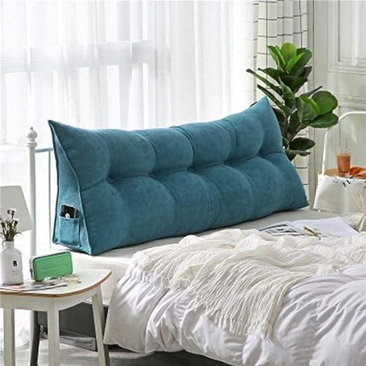 PONNMQ - Cojín para Cama (150 x 50 x 20 cm), Color Azul ...