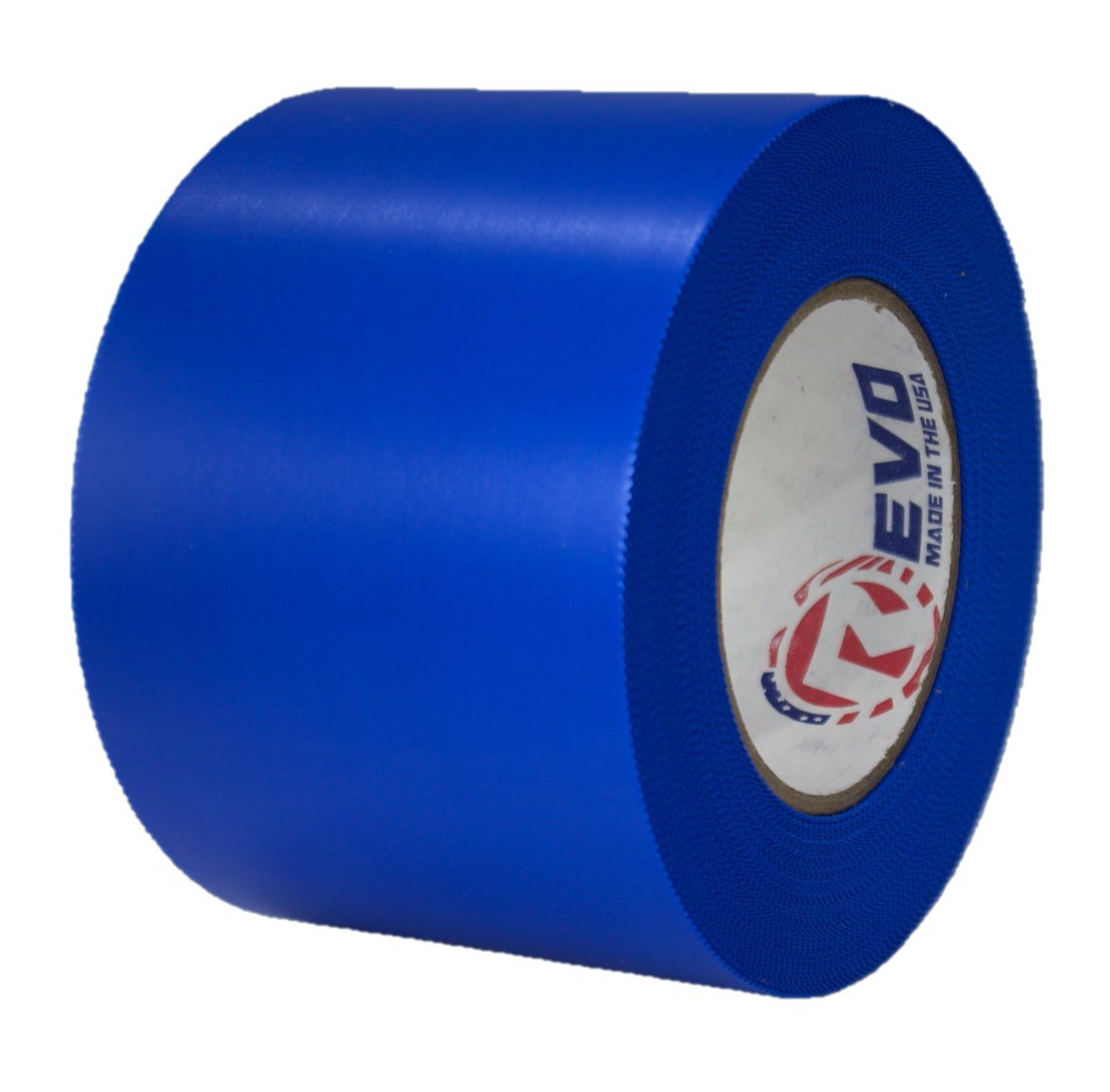 REVO Preservation Tape/Heat Shrink Wrap Tape (4'' x 60 yards) MADE IN USA (BLUE) Poly Tape - Electrical Tape - Boat Winterizing Tape (PINKED EDGE) SINGLE ROLL (HEAVY DUTY: 9 MIL THICKNESS)
