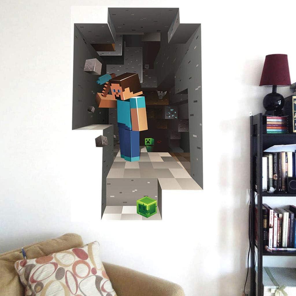 Amazon.com: LAHappy 11D Minecraft Waterproof Floor/Wall Sticker DIY