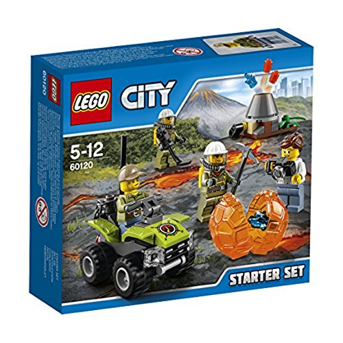 LEGO 60120 City In/Out Volcano Starter Construction Set - Multi-Coloured