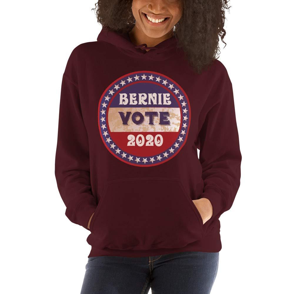 Vote Bernie 2020 Vintage Inspired Polycotton Hooded Sweatshirt