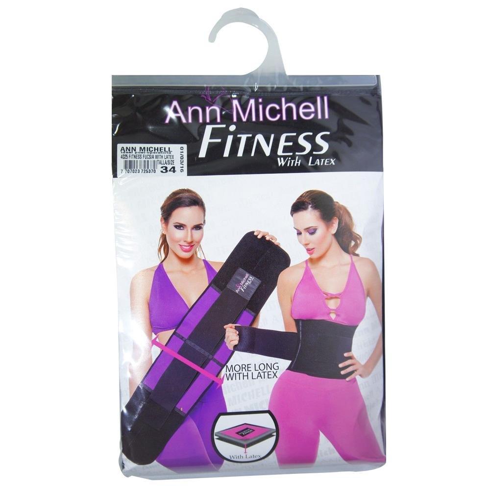9bfffa39ba734 Amazon.com  ANN MICHELL 4025 FITNESS THERMO LATEX XTREME POWER BELT BODY  SHAPER GYM TRAINER BLACK MEDIUM  Clothing