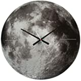 Present Time Karlsson Moon Glass Wall Clock