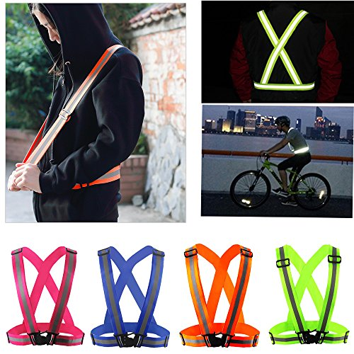 - Comidox Reflective Vest with Hi Vis Bands, Fully Adjustable & Multi-purpose: Running, Cycling, Motorcycle Safety, Dog Walking - High Visibility Neon Green 1PCS