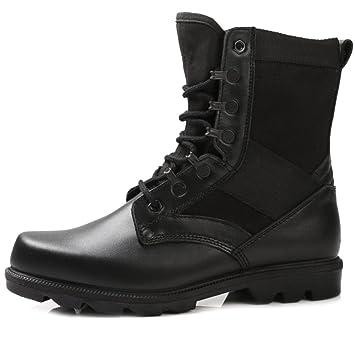 SHANLY Zapatos De Tacón Alto para Hombre Botas Tácticas Militares del Ejército Ata para Arriba Bota