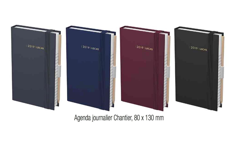 LECAS Agenda journalier Chantier 2019, 80 x 130 mm, assorti Diverse YCT-0606-NKYS11