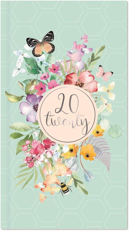 Pink 2018 Slim Week to View Pink Butterflies Design Diary