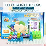 Pantheon Circuit Kit with Lighted Bricks 115 Different Projects in 1, Best STEM Educational Gift for Boys and Girls Ages 6 - 14, Science Experiment Kit w Electronic Blocks, 34pcs, Circuits for Kids