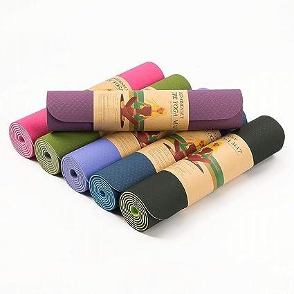 ERSD Colchoneta de Yoga TPE colchoneta de Ejercicios de 6 mm ...