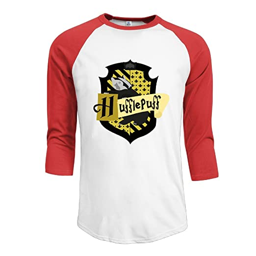 97cbfb46c2894 Image Unavailable. Image not available for. Color  LiZizz Men s Harry  Potter Hufflepuff 3 4 Sleeve Baseball T Shirts