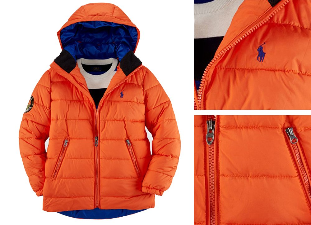 new items presenting luxury Amazon.com: Ralph Lauren Polo Boys Hooded Racer Puffer ...