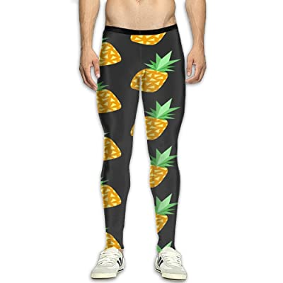 NSYGCK Pineapple Fruit Compression Pants Men Colorful Tights Leggings Athletic Gym Tights For Men