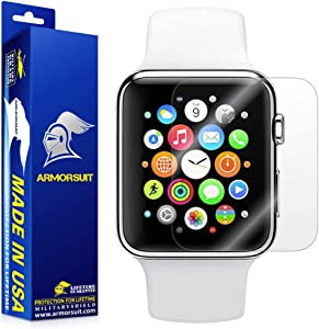 ArmorSuit Apple Watch 38mm (Series 2/3 Compatible) Screen Protector (2 Pack) Full Coverage MilitaryShield Screen Protector for Apple Watch 38mm (Series 2/3 Compatible) -HD Clear Anti-Bubble