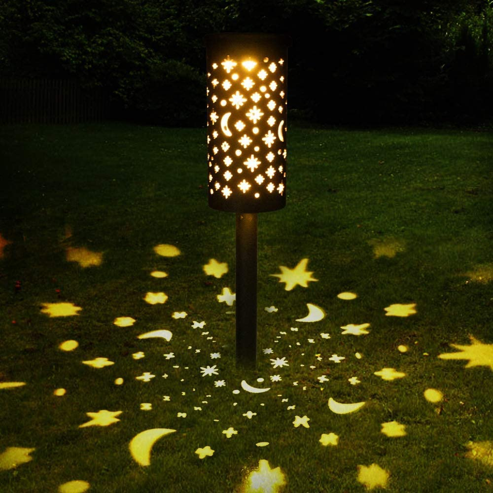 Bearbro Solar Lamps Garden,1pcs Solar Pathway Lights Outdoor,Decorative Garden Lights,Waterproof,Water Density IP44 Led Landscape Lantern for Walkway, Path, Lawn, Patio,Yard (Bronze1-1PCS)