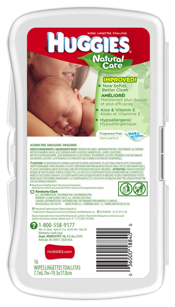 Amazon.com : Huggies Natural Care Baby Wipes, Hypoallergenic, 16 ct. : Baby Wipe Warmers : Baby