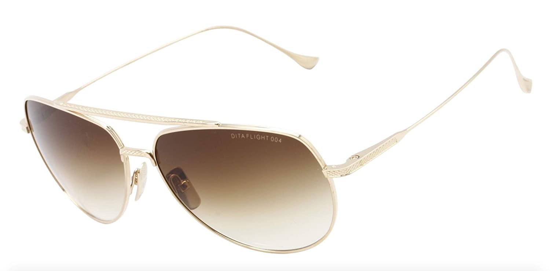d9c5fe3806c Sunglasses Dita FLIGHT. 004 7804 B-12K 12K Gold w D. Brown to Clear  Amazon. co.uk  Clothing
