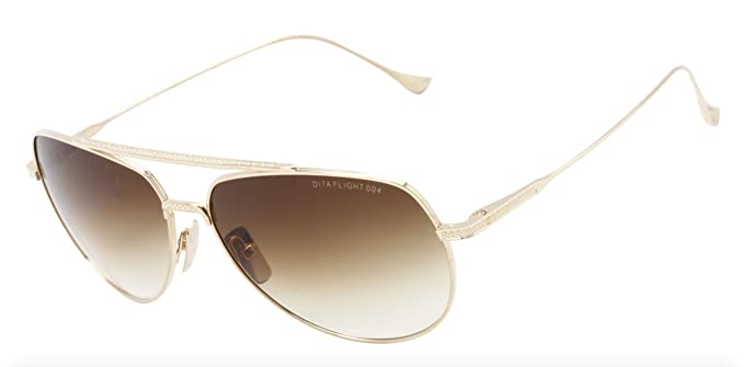 2fd76d2c0c5 Sunglasses Dita FLIGHT. 004 7804 B-12K 12K Gold w D. Brown to Clear   Amazon.co.uk  Clothing