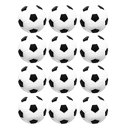 Black /& White Engraved Table Soccer Balls 50 Soccer Foosballs