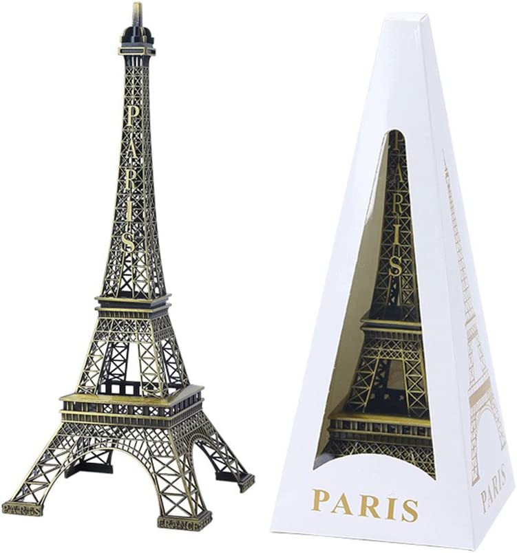Girasol-home Eiffel Tower Decor Paris Eiffel Tower (9.8 inch) Craft Art Statue Model Tabletop Decoration Gift Home Decoration