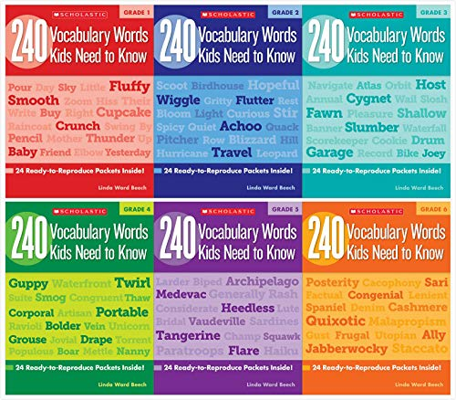 Scholastic 240 Vocabulary Words Kids Need to Know Books Complete Set (6 Books) - Grades ()