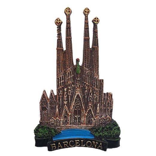 Weekinglo Souvenir Imán de Nevera Sagrada Familia Barcelona España ...