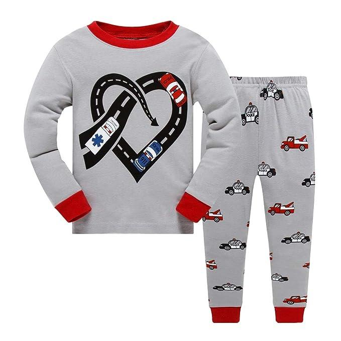 456bb132 Little Kids Sleepwear Long Sleeve Pajama Set with Police Cars
