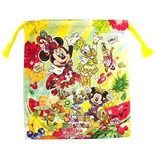 ディズニー シー サマーフェスティバル 2016 巾着 きんちゃく 袋 ミッキー ミニー マウス ドナルド デイジー 他 ( ディズニーシー限定 )の商品画像