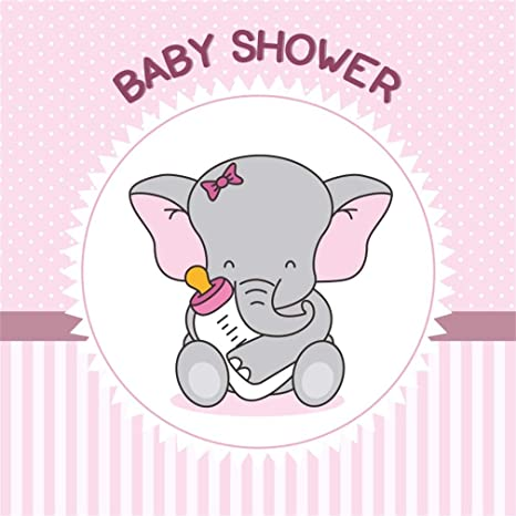 Amazon Com Csfoto 7x7ft Background Cute Elephant Baby With Bottle