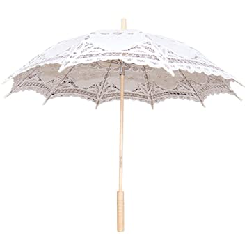 Funpa Lace Umbrella Parasol Romantic Wedding Umbrella