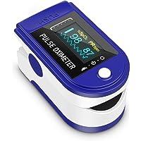 Oxímetro de pulso, monitor de oxígeno Monitor de ritmo cardíaco de dedo Monitor de saturación de oxígeno para adultos y…
