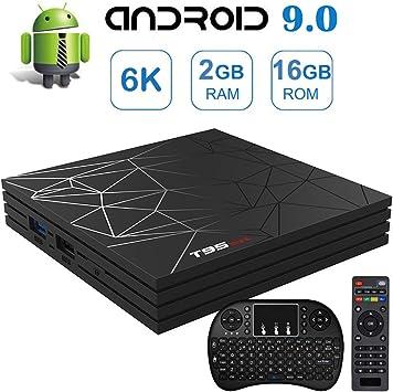 Android 9.0 TV Box, 2019 más Reciente Android TV Cajas T95MAX con ...