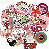 50pcs Pink Cartoon Cute Rilakkuma Mix Laptop Sticker for Kids Toys Cars Phone Laptop Bicycle