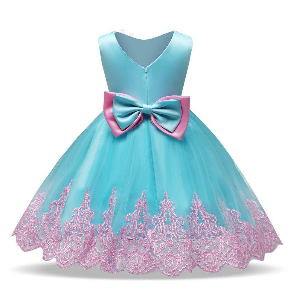 4209951ac Overdose Vestidos De NiñAs De Encaje Bowknot Princesa Boda Rendimiento  Formal Tutu Vestido Ropa En Capas De Hilo Precioso Regalo De CumpleañOs  Vestido De ...