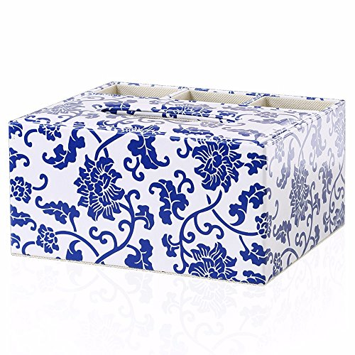 JinYiDian'Shop- Paper Box Multifunction admit box remote admit simple living room suction tray houseware, porcelain ribbed (1642 Leather)